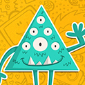 Daily Vector 265 - Triangle monster