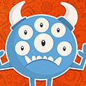 Daily Vector 268 - Six-eyed monster
