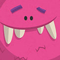 Daily Vector 299 - Pink monster