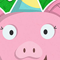 Daily Vector 303 - Birthday pig