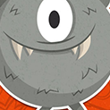 Daily Vector 308 - Gray monster