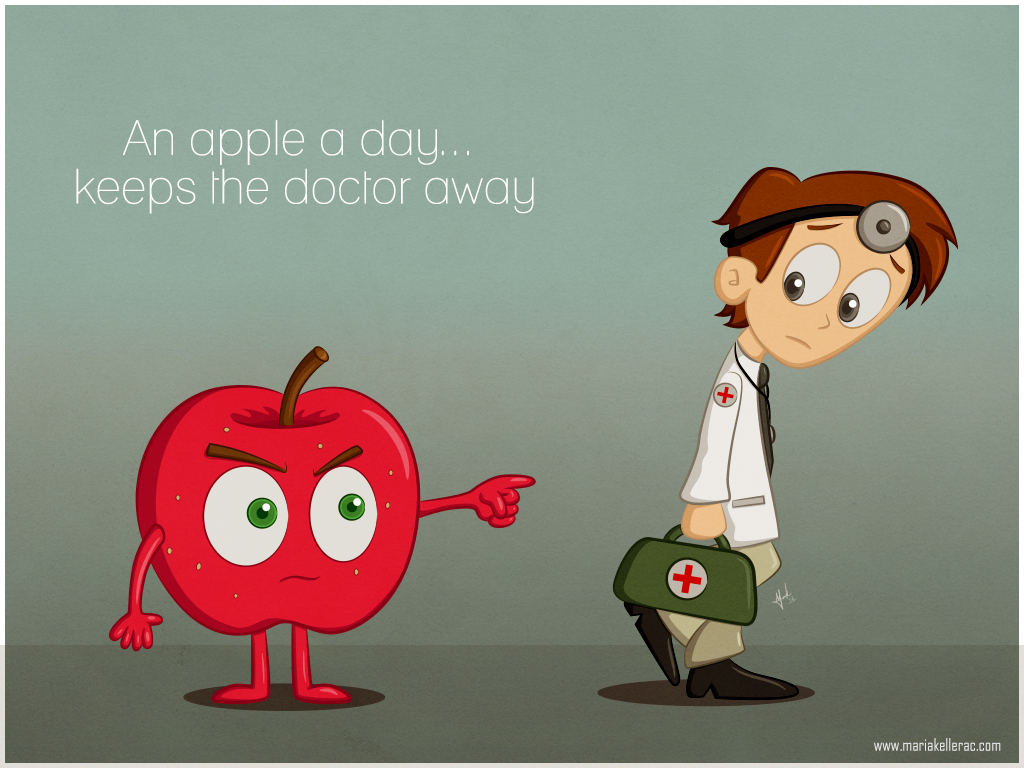 an apple a day there used The saying an apple a day keeps the doctor away probably gives you the impression that apples are the healthiest fruits this proverb was first mentioned more than a century ago, and it is still widely used today other than the fact that it is easy to remember and fun to say, it may also be true .